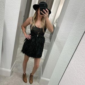 Urban Outfitters Cooperative Ostrich Feather Dress